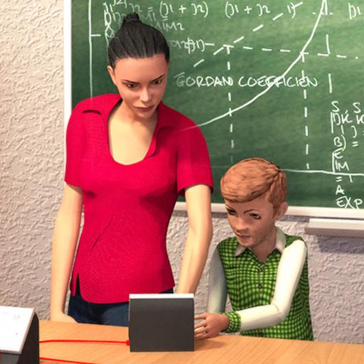 simulador de maestro de escuela: divertidos juegos de secundaria para niños