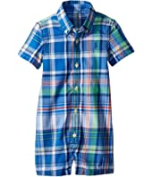 Ralph Lauren Baby Indigo Cotton Madras Shortalls (Infant)