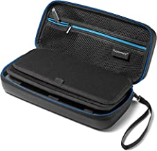 Supremery Nintendo Switch Case Bag with mesh pocket, zipper and snap hook - Water resistant in blue / black