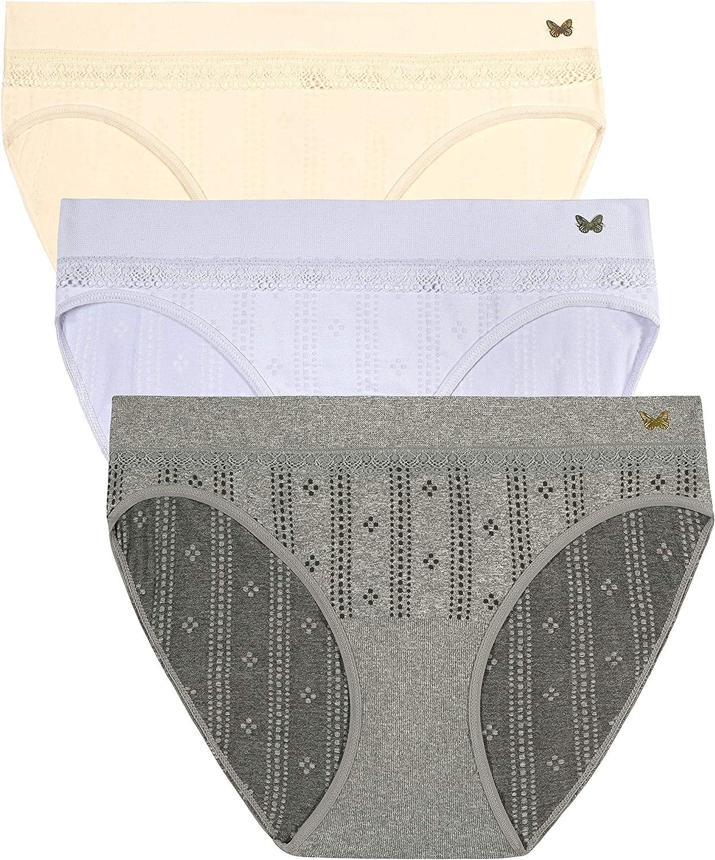 Jessica Simpson Women's Seamless Bikini Panties Underwear Multi-Pack