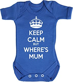 Baby Buddha Keep Calm But Wheres Mum Baby Bodys/Strampler 100% Baumwolle