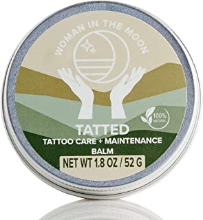 Woman In The Moon Tatted Organic Tattoo Aftercare Balm   For New and Existing Tattoos   Lubricates and Moisturizes   All N...