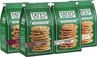 Tate's Bake Shop Cookies Variety Pack, Chocolate Chip, Oatmeal Raisin, White Chocolate Macadamia Nut & Chocolate Chip Waln...