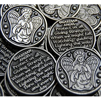 Angelstar Token of Faith 1-1//4-Inch by 1-Inch Angel on Front and Reads Give Thanks to the Lord for He is Good on Back