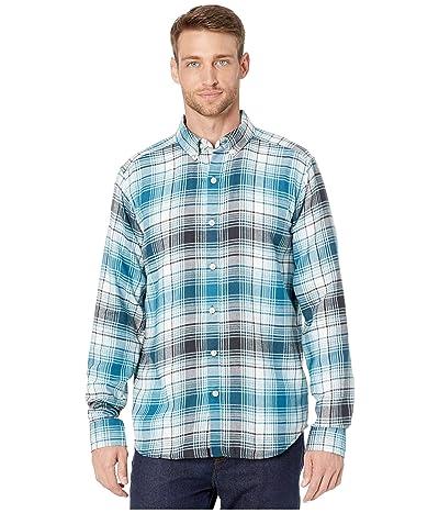 Marmot Harkins Lightweight Flannel Long Sleeve Shirt (Moroccan Blue) Men