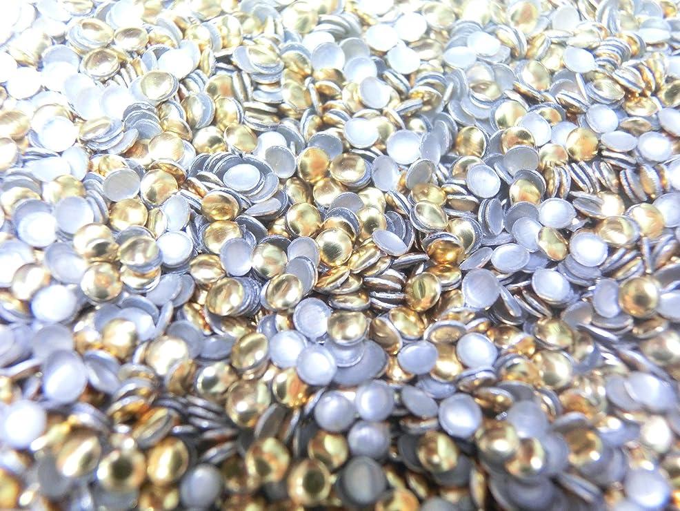 トレイル発音結び目【ラインストーン77】 多種類 スタッズ 約200粒 丸(サークル) ゴールド 2mm