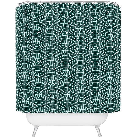 Deny Designs Holli Zollinger Mosaic Scallop Marine Shower Curtain 72 X 69 Green Home Kitchen