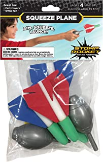 Stomp Rocket Squeeze Plane, 4 Foam Plane Toys for Boys and Girls - Outdoor Rocket Toy Gift for Ages 4 and Up