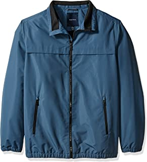 Men's Big and Tall Poly Shell Jacket with Fleece Lining