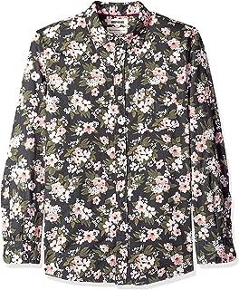 Amazon Brand - Goodthreads Men's Standard-Fit Long-Sleeve Printed Poplin Shirt