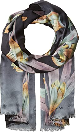 Cascading Floral Double-Faced Wrap