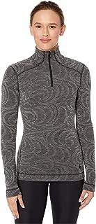 Women's Base Layer Top - Merino 250 Wool Pattern Active 1/4 Zip Outerwear