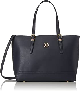 Tommy Hilfiger Womens Honey Medium Tote, Blue (Tommy Navy) - AW0AW04547
