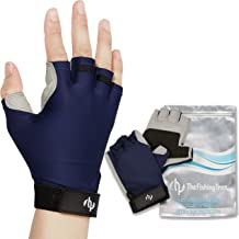 The Fishing Tree Fingerless Fishing Gloves, Certified Sun Protection UPF50+ Block, Kayak, Hiking, Paddling, Sailing, Rowing, Driving, Free of Chemicals, Protect Hands and Stop Sun Damage