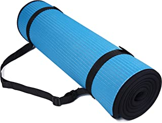 BalanceFrom GoFit All-Purpose 2/5-Inch (10mm) Extra Thick High Density Anti-Slip Exercise Pilates Yoga Mat with Carrying S...