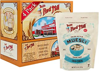 Bob's Red Mill Resealable Paleo Style Muesli Breakfast Cereal, 14 Ounce (Pack of 4)