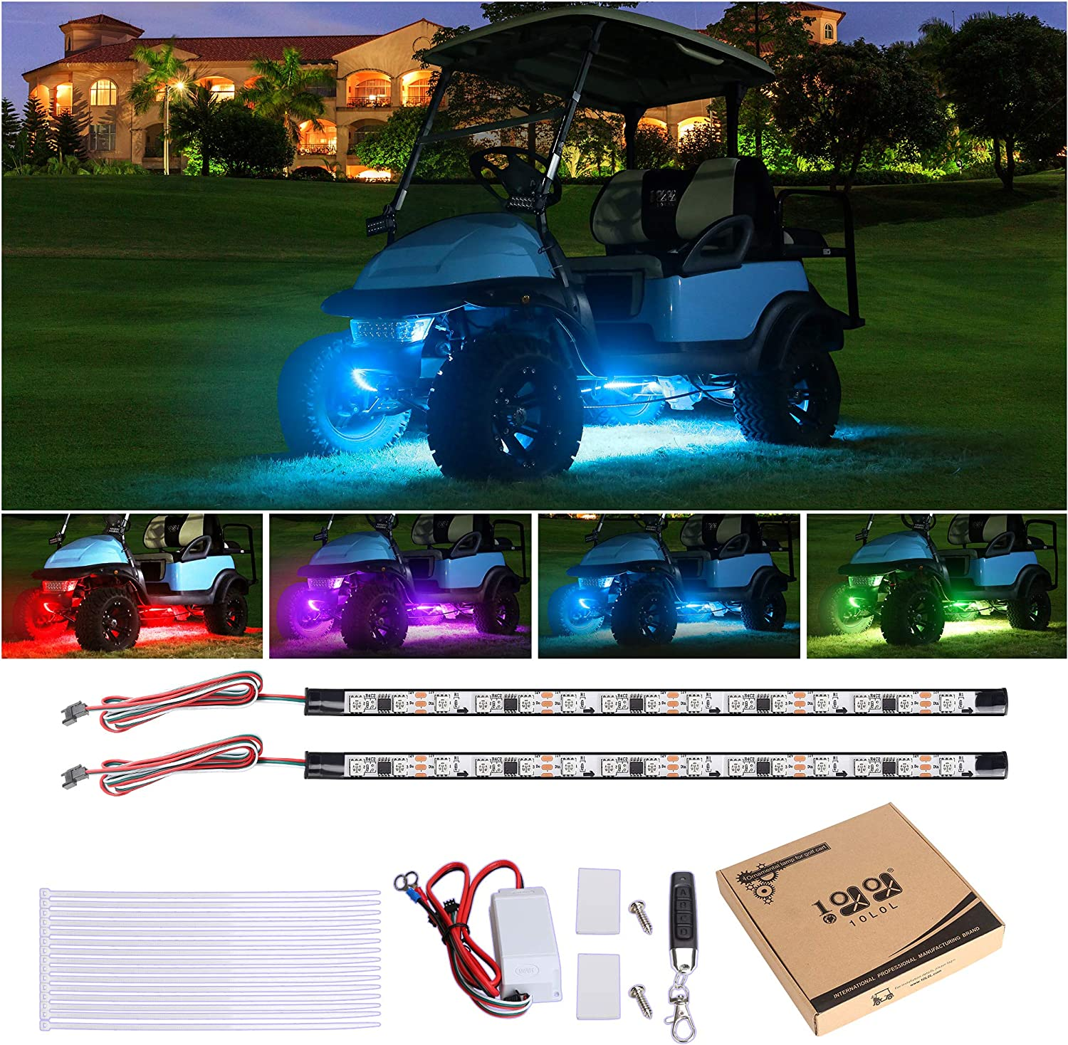 Club Car Accessories (Buying Guide 2021) - Underglow LED Light Kits