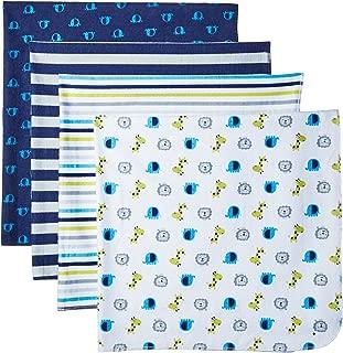 GERBER Baby Boys' 4-Pack Flannel Receiving Blanket