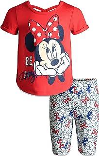 bb37d4dfb Disney Minnie Mouse Baby Infant Toddler Girls' T-Shirt & Bike Shorts Set