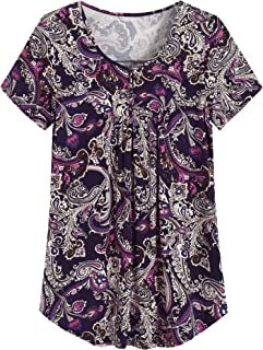 Women's Plus Size Comfy Pleated Tunic Top