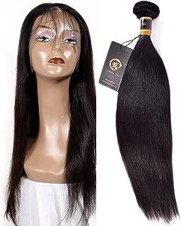 HZSHMM 10A Brazilian Straight Hair 100% Unprocessed Virgin Human Hair 1 Bundle (16〞, 100g, Natural Black) (16inch)