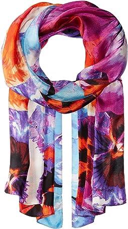 Calvin Klein - Multicolor Floral Silk Scarf