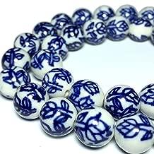 [ABCgems] Vintage Ceramic Porcelain (Rose) 12mm Smooth Round Beads