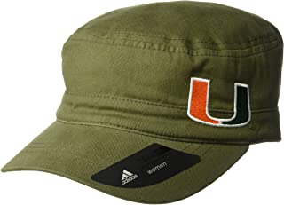 NCAA Miami Hurricanes Adult Women Army Green Military Hat, One Size, Olive
