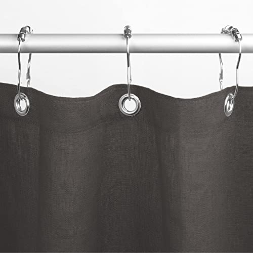 """discount Bean Products Premium Linen Shower Curtain (Gray), [70"""" popular x 74""""] popular 