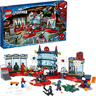 LEGO Marvel Spider-Man Attack on The Spider Lair 76175 Cool Building Toy, Featuring The Spider-Man Headquarters; Includes ...
