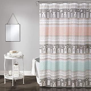 Lush Decor Llama Stripe Shower Curtain, 72