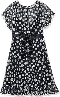 فستان جيسيكا هوارد ثنيات دبوس للنساء مع حاشية مكشكشة