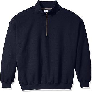 Gildan Mens Men's Fleece Quarter-Zip Cadet Collar Sweatshirt Extended Sizes