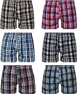 L&K Bóxer para Hombre Pack de 6, Estilo Americano en Diversos Colores con 95% de algodón 1406