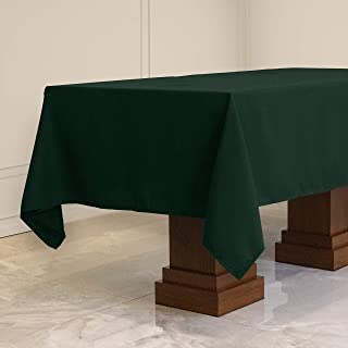 Kadut Rectangle Tablecloth (60 x 102 Inch) Hunter Green Rectangular Table Cloth for 6 Foot Table | Heavy Duty Fabric | Sta...