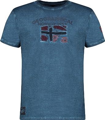 Geographical Norway JOTZ Men - Maglietta Cotone Uomo - T-Shirt Logo Stampa - Maniche Corte - Girocollo Scollo Regular Fit Casual Stile Prodotto