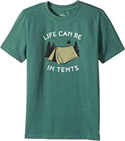 Life is Good Kids - Life Can Be In Tents Crusher Tee (Little Kids/Big Kids)