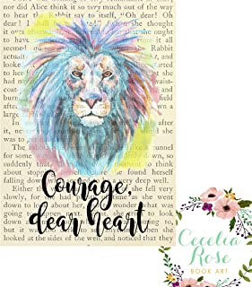 Courage Dear Heart Aslan C S Lewis Voyage of the Dawn Treader Chronicles of Narnia Literary Vintage Book Page 8x10 Unframed Print