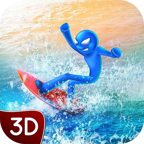 Stickman Summer Water Sailing Sports Racing: Top Wave Extreme Windsurfing Simulator