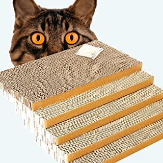 ShioSel, Cat Scratcher Cardboards, Cat Scratch Pads, Catnip Included, Large, 16x8.3x1 inch, 5-Pack