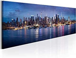 murando Cuadro en Lienzo 135x45cm 1 Parte impresión en Material Tejido no Tejido Cuadro de Pared impresión artística fotografía Imagen gráfica decoración New York Ciudad City NY d-B-0179-b-a