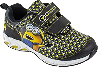 Despicable Me Kids Minion Two-Strap Sneaker Athletic Shoe