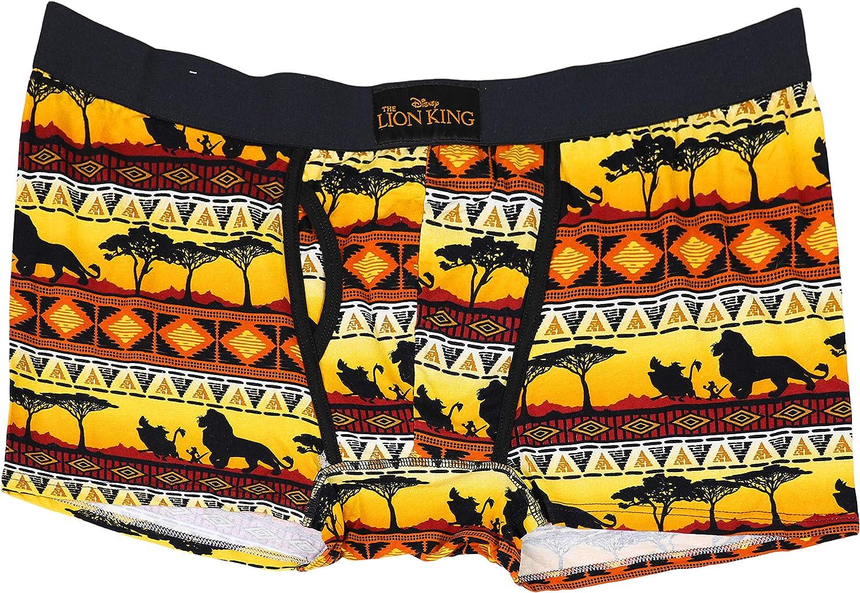 Disney Men's The Lion King Fairisle Style Boxer Brief, XX-Large Yellow