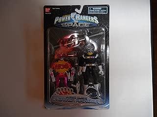 Power Rangers in Space Bandai 1998 2-Pack Black Astro Ranger w/ Bonus MMPR Movie Ranger