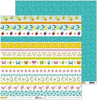 Anita y Su Mundo Collection Mi Jardin, papier de scrapbooking, papier, bandes 30,5 x 30,5 cm