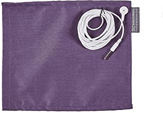shieldgreen-Earthing Therapy-Earthing Mouse Pad(Stainless Steel Yarn 25% Fabric)+Earthing Snap(Length 3m) for Grounding (Violet)