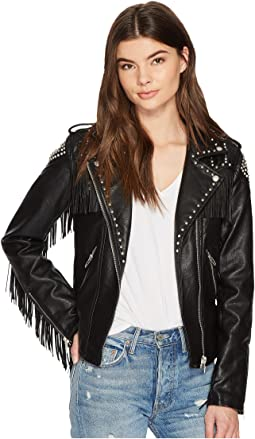 Blank NYC - Fringe Moto Jacket in On The Run