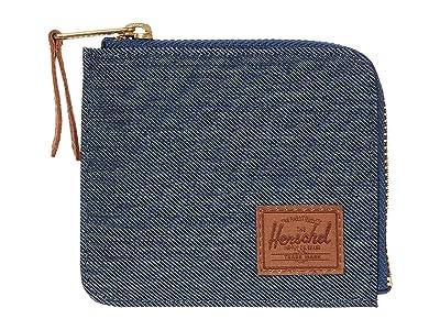 Herschel Supply Co. Jack RFID (Indigo Denim Crosshatch/Saddle Brown) Wallet Handbags