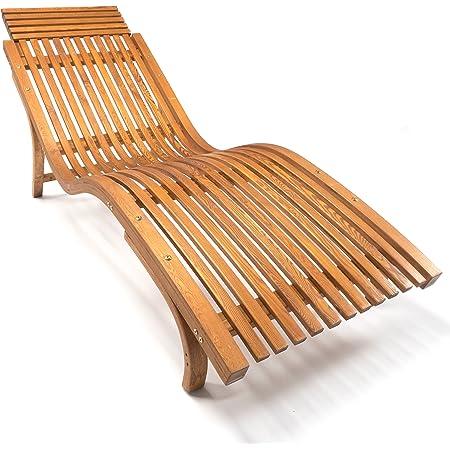 Amazon De Ampel 24 Sonnenliege Cannes Gartenliege Ergonomisch Geschwungen Relaxliege Mit Wahlbarer Liegeposition Wetterfeste Gartenliege Aus Holz
