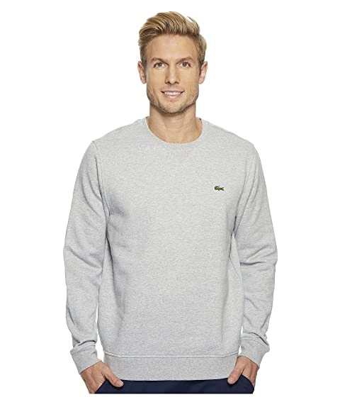 Lacoste Sport Crew Neck Fleece Sweatshirt Silver Chine Websites Cheap Price Clearance Free Shipping Cheap The Cheapest Genuine For Sale 5xcSNHFos